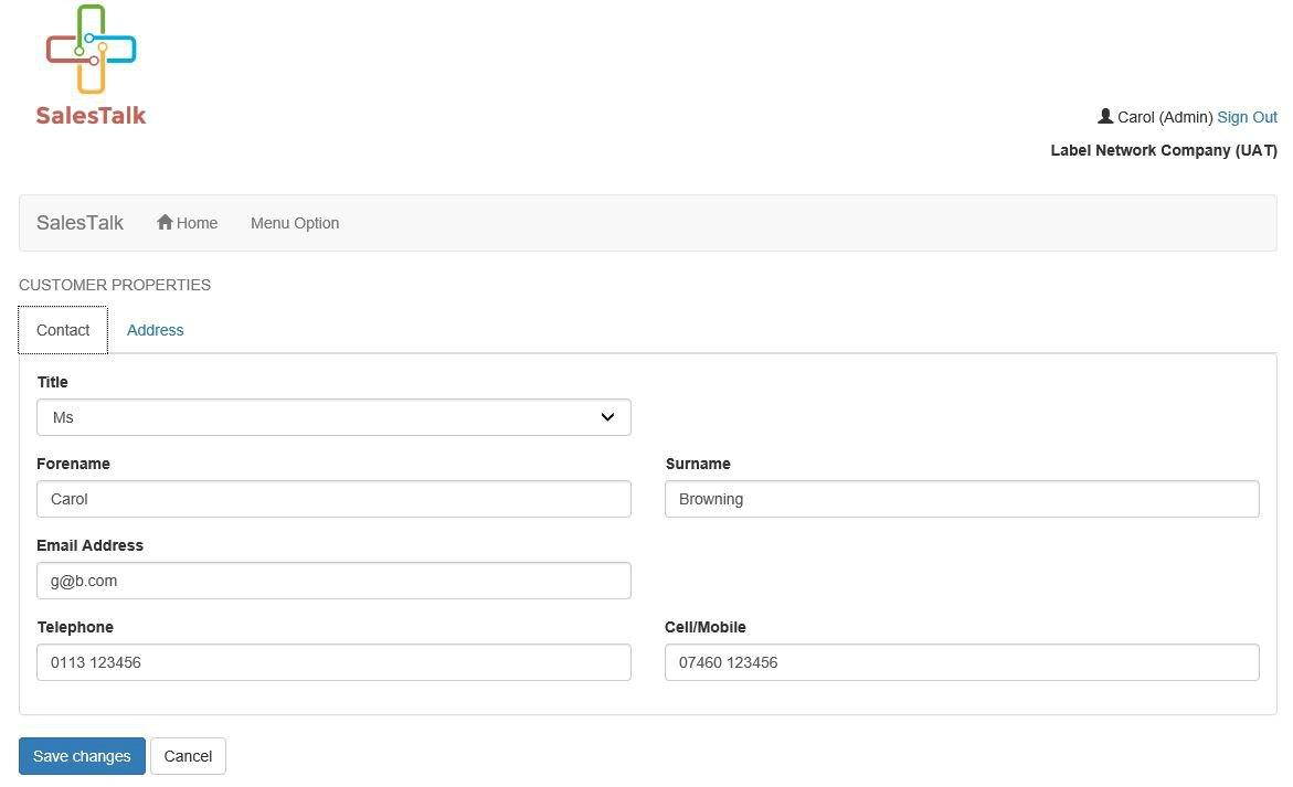 salestalk customer database