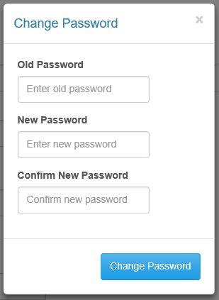 change password modal