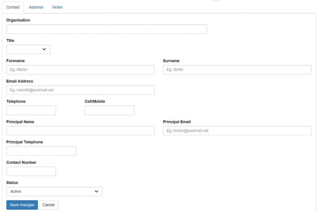 add new customer form