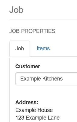 items tab